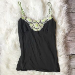 AEO Floral Cami Tank Top w/ Built in Bra